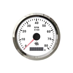 COMPTE-TOURS ÉLECTRONIQUE - 0-4000 RPM - BLANC
