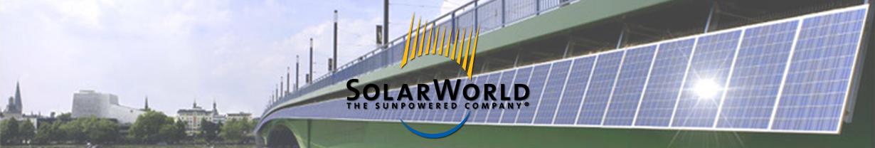 panneau solaire solarworld pont