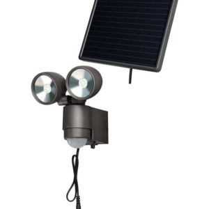 DOUBLE LAMPE LED SPOT SOLAIRE - ANTHRACITE