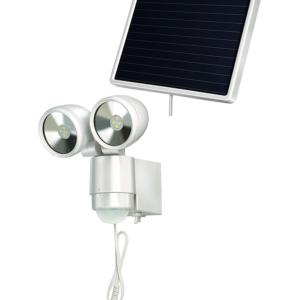 DOUBLE LAMPE LED SPOT SOLAIRE - BLANC