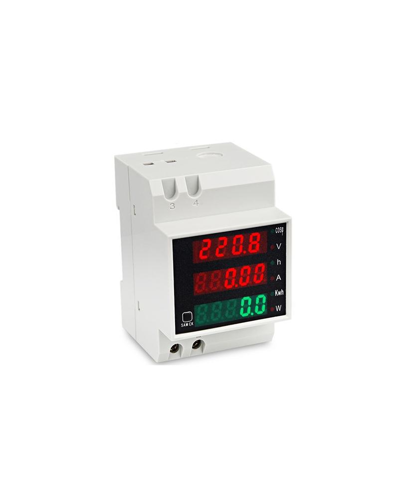 AFFICHEUR LCD - TYPE AC - RAIL DIN