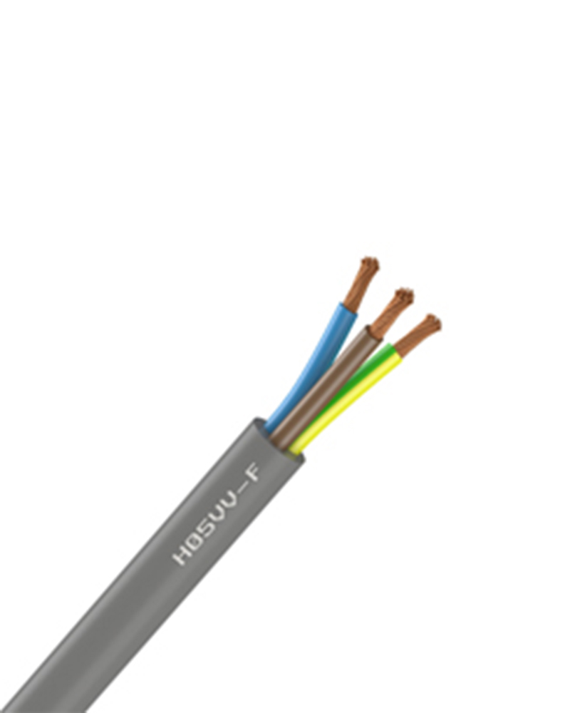 CABLE SOUPLE - H05VV-F - 3G1.5mm² Gris