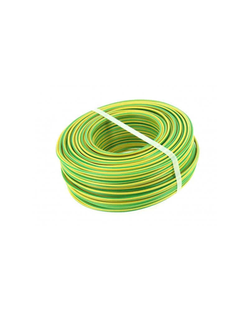 FIL ISOLE RIGIDE - H07V-U Vert-jaune