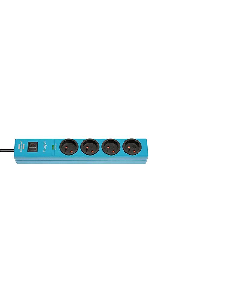 multiprise 4 prises avec parasurtenseur/parafoudre cordon 2 m - Azur