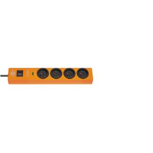 SOCLE HUGO 4 PRISES Orange