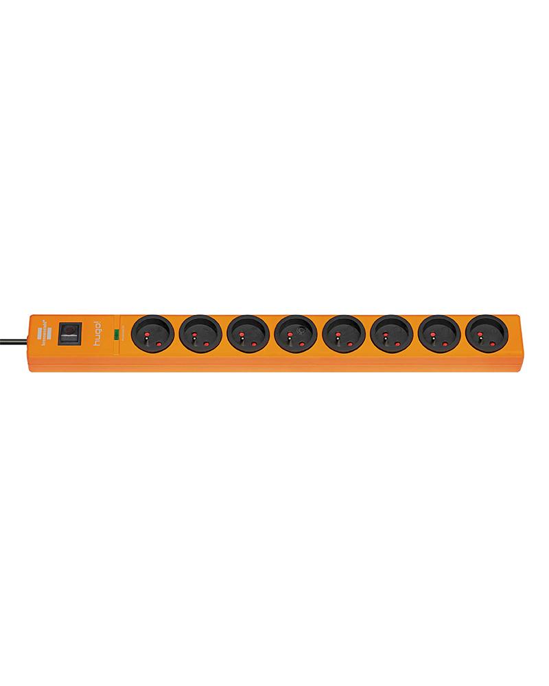 multiprise 8 prises avec parasurtenseur/parafoudre cordon 2 m Orange